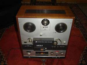 Akai X 360D, Cross Filed Reel To Reel Recorder, Vintage