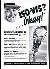 1939 AD Iso Vis Motor Oil Glass Quart Bottle Standard Oil Company