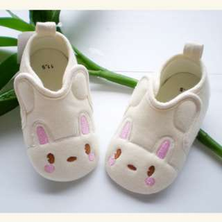 Sweet Baby Girls Lovely Rabbit Soft Sole Shoes 6 12m