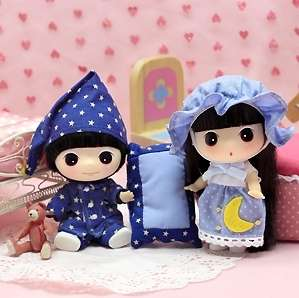 Lovely Cute Collectible Doll Mini Sleeping Couple DDUNG