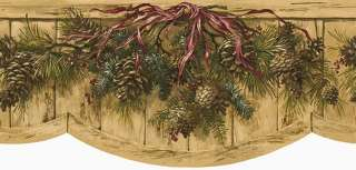 Pine Cone Pinecone Swag Die Cut Pre Pasted Wallpaper Wall Border