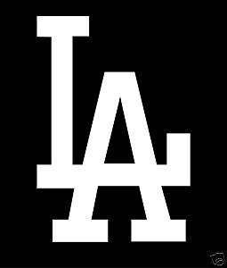 LOS ANGELES DODGERS Logo WINDOW STICKER MLB Car Decal