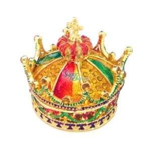 Crown   Jewelry Trinket Box Swarovski Crystal (JF1175) Beauty
