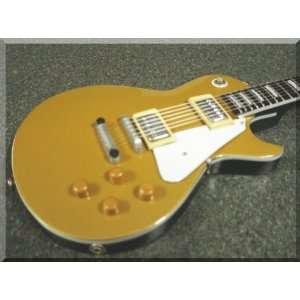HUBERT SUMLIN Miniature Mini Guitar Les Paul Goldtop