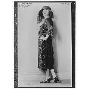 Lilyan Tashman (wearing beaded Canton crepe gown)