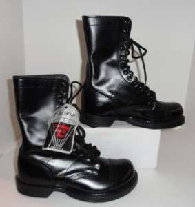 Double H Mens Black Military Work Combat Boot Size 7E