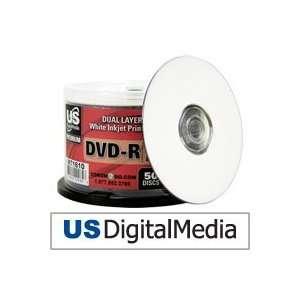 USDM Premium DVD R Dual Layer White Inkjet Printable 4x