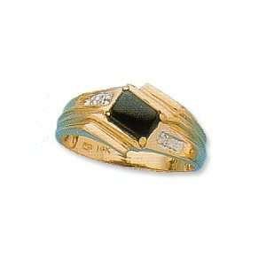 14k Onyx Men Ring (yellow gold) Jewelry