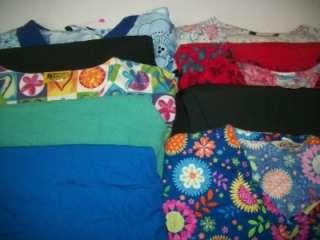 Medical Dental Scrubs Vet Lot 5 PRINTED Outfits Sets Size 2XL XXL 2X