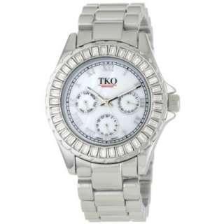 TKO ORLOGI Womens TK520 SL Capri Metal Silver Swarovski Crystal Watch
