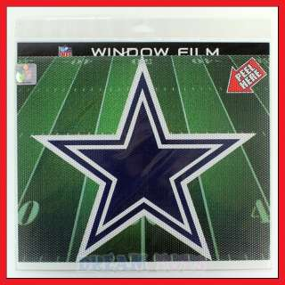 NFL Dallas Cowboys 9.5 Window Film Perforated Decal Sticker