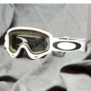 NEW MENS OAKLEY O FRAME SNOW MATTE WHITE LIGHT GREY GOGGLES