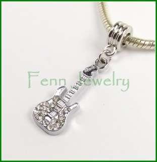 Dangle Crystal Rhinestone Charm fit European Charm Bracelet 985