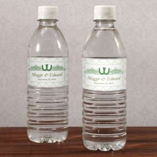 48ct PERSONALIZED WEDDING WATER BOTTLE LABELS STICKERS 068180013708