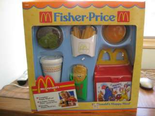 Fisher Price Fun with Food McDonalds Happy Meal 2155 BOX hamburger