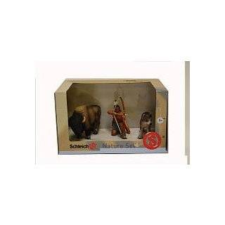 Schleich American Frontier: Indian,Wolf and Buffalo 3 pc. Box Set