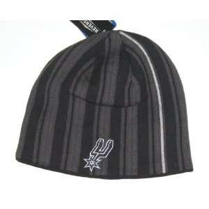 Spurs NBA Adidas Reversible Stripe Knit Beanie Hat