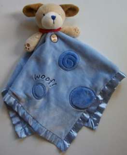 Carters WOOF Blue Puppy Dog LOVEY Security Blanket Baby