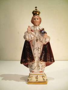 ITALIAN PORCELAIN INFANT PRAGUE STATUE JESUS RELIGIOUS |