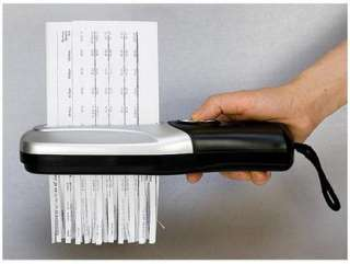 to a minimum with this great hand held USB powered paper shredder