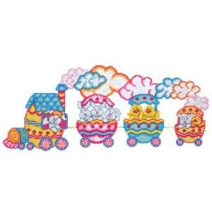 Bunny Train Plastic Canvas Kit: Arts, Crafts & Sewing