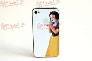 Snow White Decal Sticker skin for white Iphone 4 4g
