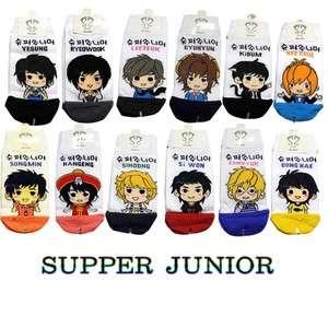 Super Junior Socks(12 kinds) one pair of socks or All Option ship 1.90