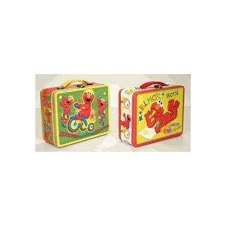 Sesame Street Elmo Embossed Large Lunch Box  Designs Vary by Tin Box