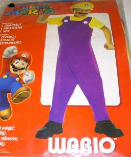 Super Mario Wario Jumpsuit Costume Dress up Child S 6 NIP 883028495351