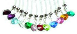 Swarovski Crystal Heart Belly Ring
