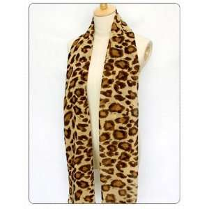 Leopard Design Scarf Long Shawl Chiffon Scarves: Home Improvement