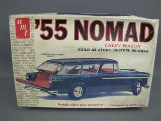 Original AMT 1955 NOMAD Chevy Wagon Model Kit 1/25 Open